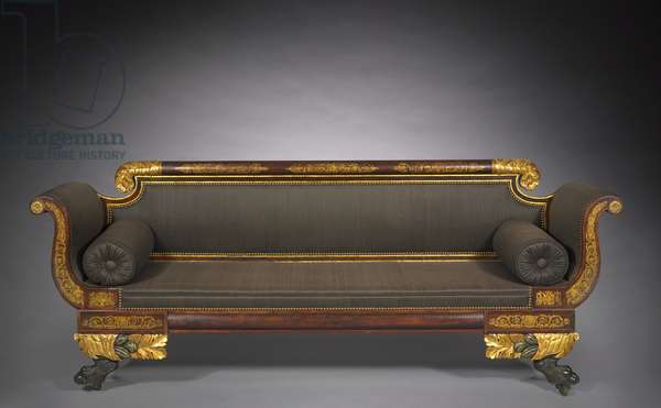 Sofa, c.1820 (wood with painted & gilded decoration)