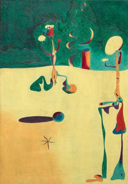 Nocturne, 1935 (oil on copper)