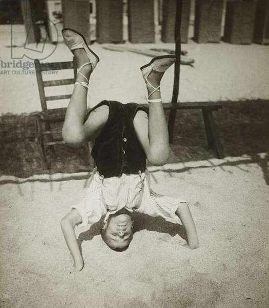 Headstand, Barcelona, 1933 (gelatin silver print)