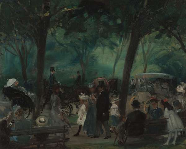 The Drive, Central Park, c.1905 (oil on canvas)