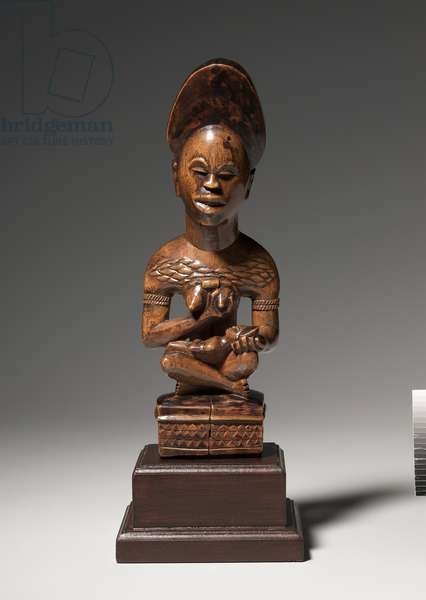Mother-and-Child Figure, mid to late 1800s (wood)