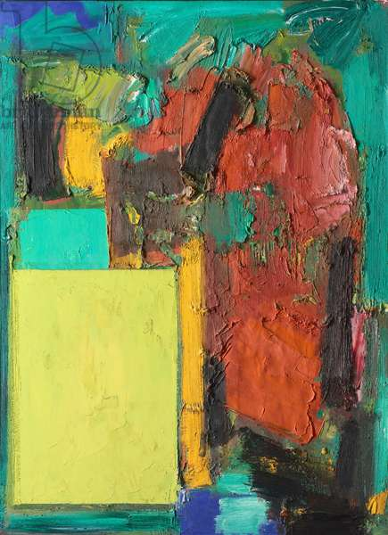 Smaragd, Red, and Germinating Yellow, 1959 (oil on canvas)