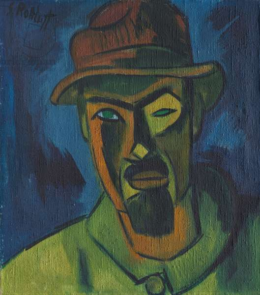 Self-Portrait with Hat, 1919 (oil on canvas)