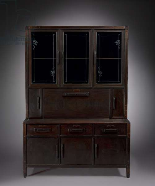 Secretary, made by Peter Hall Manufacturing Co., 1911 (mahogany with inlays and glazed doors)