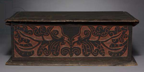 Carved Box, 1680-1700 (oak)