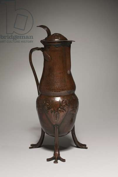 Ewer, c.1900 (copper repousee)