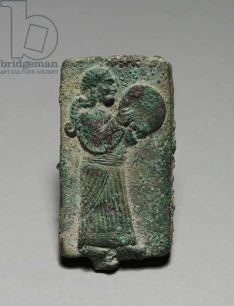 Hand Drummer, 900-700 BC (solid cast bronze)