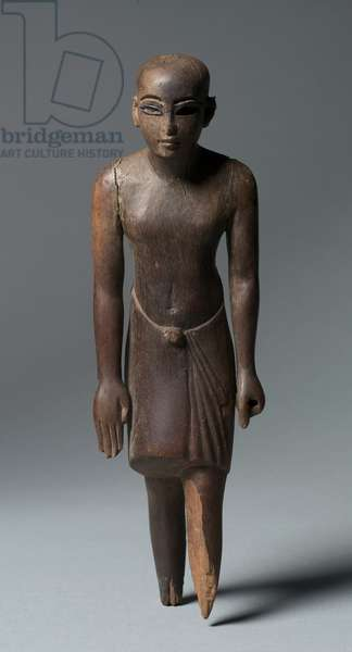 Statuette of a Man, c.1391-1353 BC (ebony inlaid with cobalt blue glass)