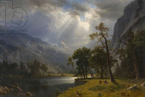 Yosemite Valley, 1866 (oil on canvas)