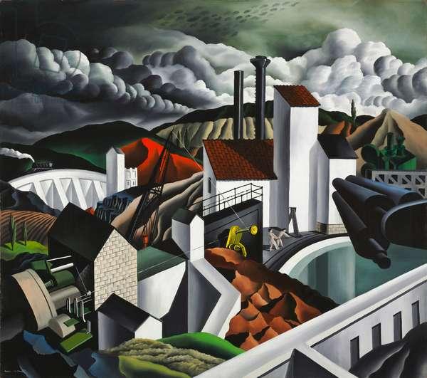 The White Dam, 1939 (oil on masonite)