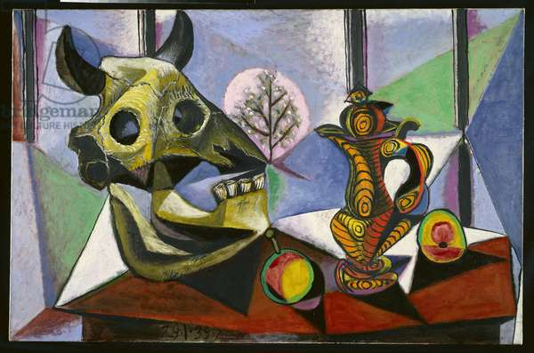 Bull Skull, Fruit, Pitcher, 1939 (oil on canvas)