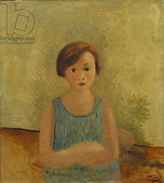 Little Girl in Blue, c.1928 (oil on canvas)