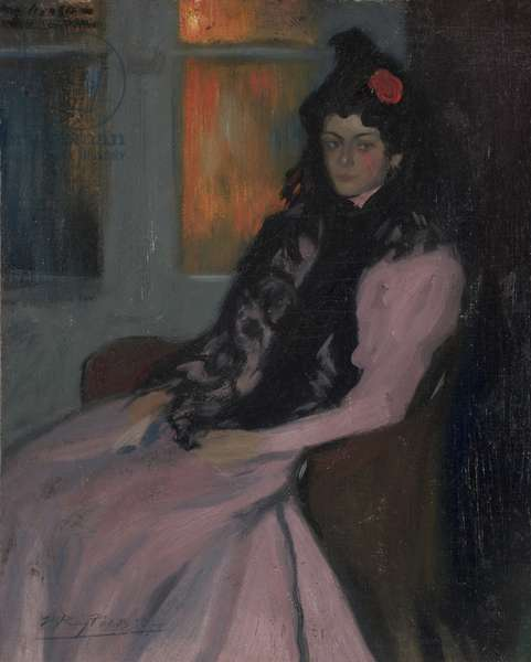 The Artist's Sister Lola, 1899-1900 (oil on canvas)