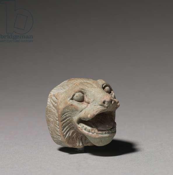 Lion Head, 664-332 BC (glassy faience)