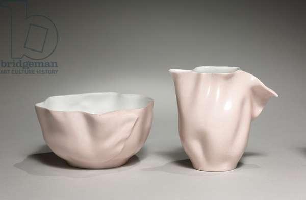 Service Aïda: Bowl, manufactured by Jean Pouyat Factory, c.1880 (porcelain)