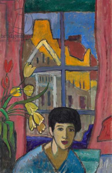 Future (Woman in Stockholm), 1917 (oil on canvas)