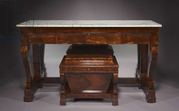 Sideboard and Cellarette, firm of Duncan Phyfe and Son (1768-1854), c.1840 (chiefly rosewood veneer with pine and poplar secondary woods) (see also 500294 & 500295)