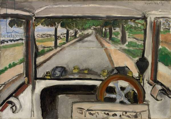The Windshield, On the Road to Villacoublay, 1917 (oil on canvas)
