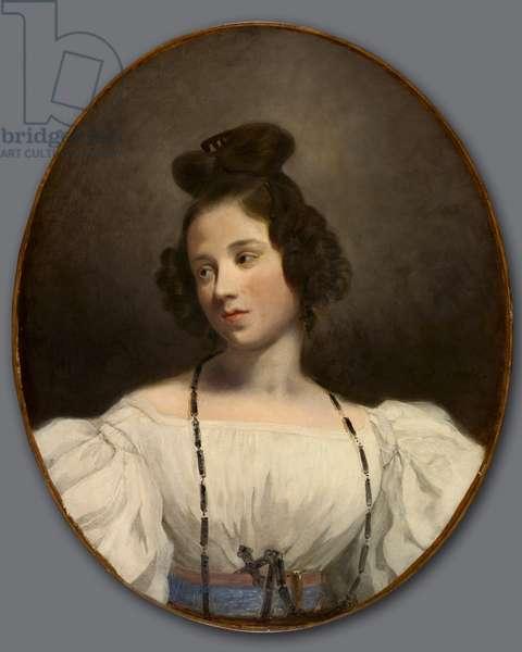 Mlle. Alexandrine-Julie de la Boutraye, c.1832-1834 (oil on fabric)