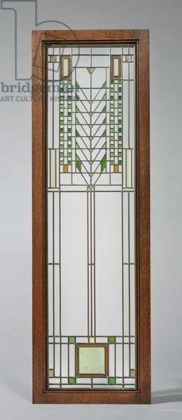 Casement Window, made at Linden Glass Co., c.1904 (leaded glass panes in metal frame)