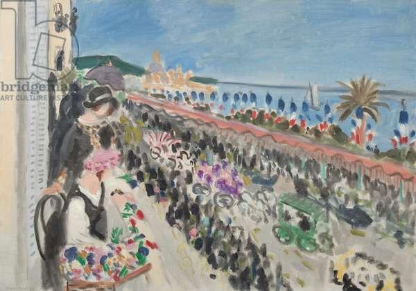 Festival of Flowers, Nice (Fête des fleurs), 1923 (oil on canvas)