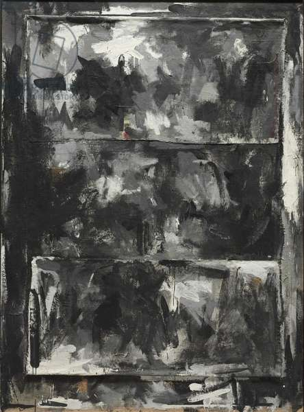 Reconstruction, 1959 (encaustic & collage on canvas)