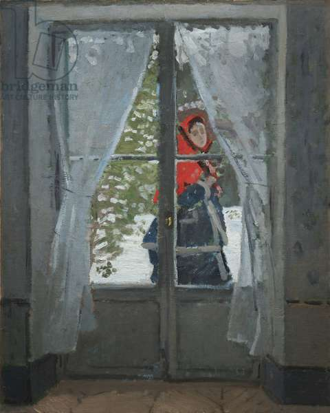 The Red Kerchief, c.1868-73 (oil on fabric)