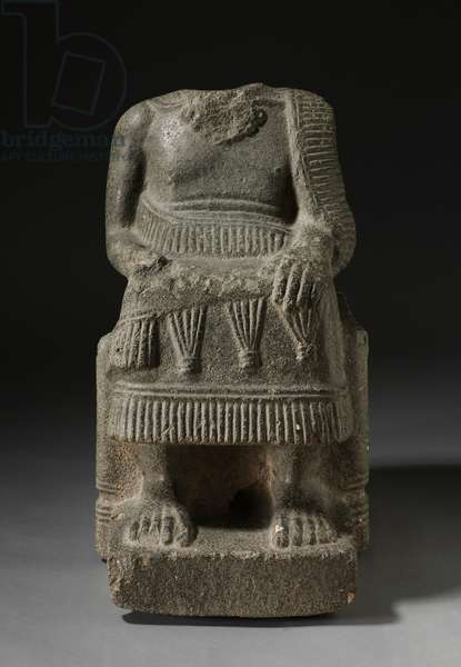 Seated Ruler, 2000-1700 BC (limestone with shell inclusions)