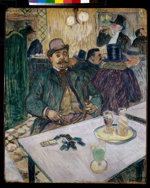 Monsieur Boileau at the Cafe, 1893 (gouache on paper)