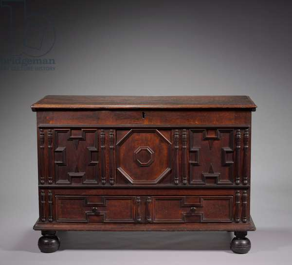 Chest, c.1700 (oak and pine)