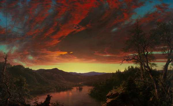 Twilight in the Wilderness, 1860 (oil on canvas)