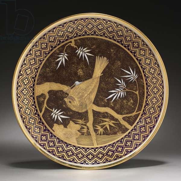 Cabinet plate, 1883 (porcelain with enamel pâte-sure-pâte decoration)