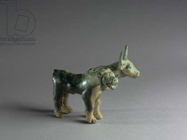 Composite Lion and Bull, 1500-1000 BC (cast bronze)