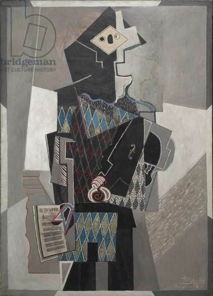 Harlequin with Violin, 1918 (oil on canvas)