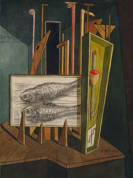 Metaphysical Interior, c.1917-1939 (oil on canvas)
