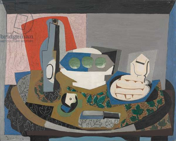 Still Life with Biscuits, 1924 (oil, sand, other materials on canvas)