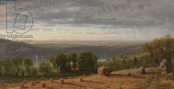 Landscape with Haywain, 1861 (oil on canvas)