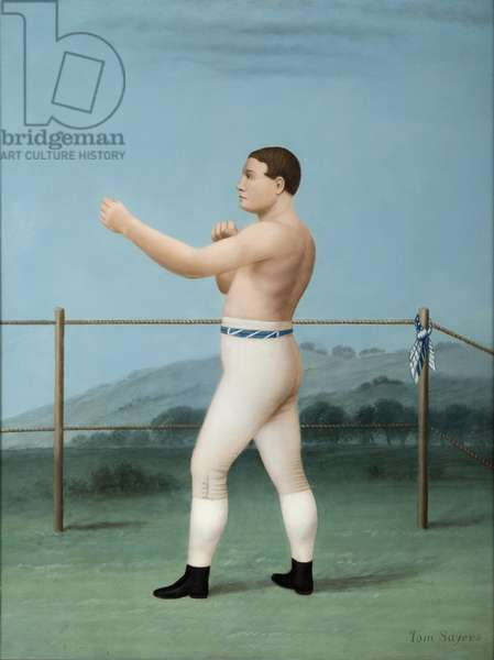 Tom Sayers, Prize Fighter, c.1840 (oil on panel)
