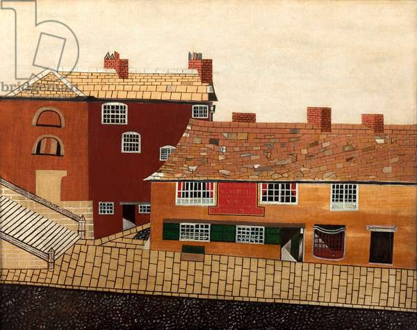 The Old King's Arms, Wakefield, 19th (oil on canvas)