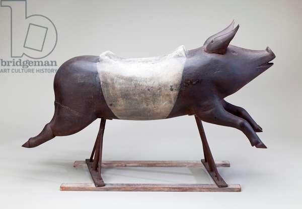 Fairground Carousel Pig, 1850-1900 (cast iron)