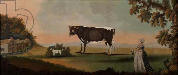 Prize Bull and Prize Cabbage, 1802 (oil on panel)