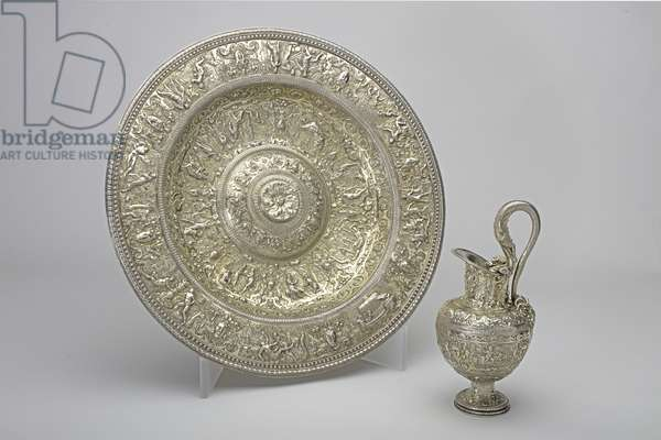 Silver Gilt Ewer and Basin, c.1580-1600 (silver)