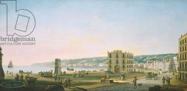 Posillipo from the Riviera de Chiaia, c.1764 (oil on canvas)