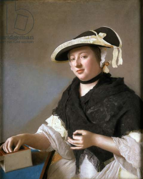 Lady Fawkener, c.1760 (pastel on vellum)