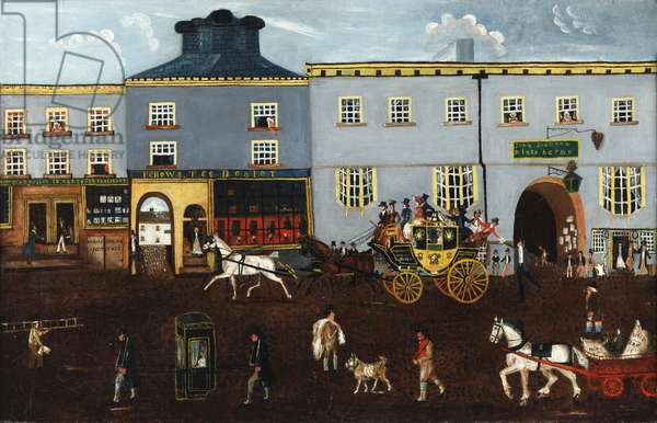 The King's Harms, Manchester, c.1800 (oil on canvas)