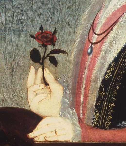 King Edward VI, c.1550 (oil on panel) (detail of 872295)