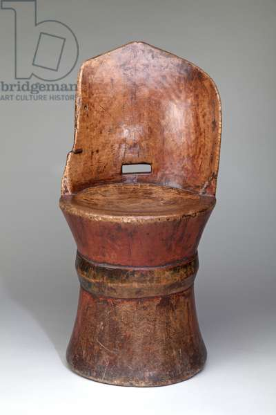 Dug-out Seat, 1800-1900 (birch)