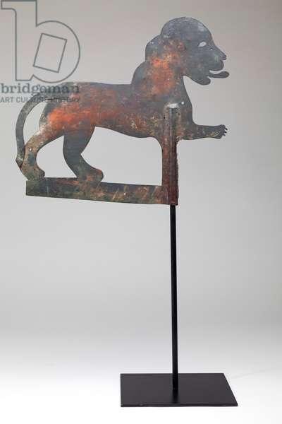 Lion Weathervane, 1900-50 (metal)