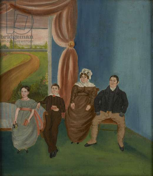Family Group, c.1840 (oil on canvas)