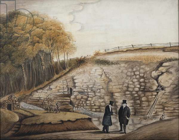 Kirkdale Cave, c.1824 (w/c on paper)